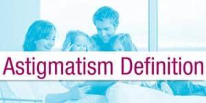 Astigmatism Definition Menu Item